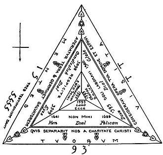 Rushton Triangular Lodge - Schematic diagram