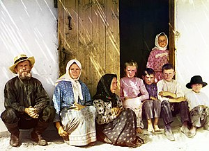 Mugan plain - Mugan. Settler's family. Settlement of Grafovka. (Russian settlers, probably Russian Orthodox, in the Mugan steppe of Azerbaijan.) Sergei Mikhailovich Prokudin-Gorskii Collection (Library of Congress) 1905-1915