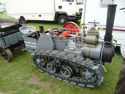 Hornsby chain tractor (working scale model)
