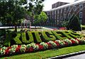 Rutgers spelled out in hedge on College Ave campus New Brunswick NJ.JPG