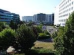 Ruzyně, letiště, parkoviště Vinci Park, z mostu.jpg
