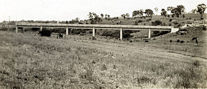 Rylstone, New South Wales - Rylstone Bridge during construction in 1948