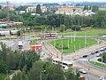 Sídliště Řepy, prázdná tramvajová smyčka před rekonstrukcí.jpg