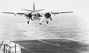 VS-35 - Image: S 2D Tracker of VS 35 approaches USS Hornet (CVS 12) c 1965