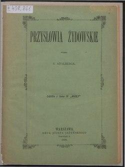 Przysłowia żydowskie Wikiźródła Wolna Biblioteka