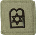 SANDF Rank Insignia Chaplain Jewish embossed badge.png