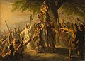 SA 4999-Anno 70. Brinio als leider der Kaninefaten op het schild geheven.jpg
