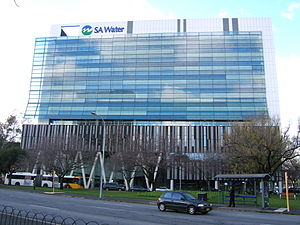SA Water - SA Water's Headquarters on Victoria Square in the Adelaide city centre