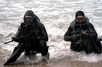 United States Navy SEAL selection and training - Image: SEALS wearing diving gear