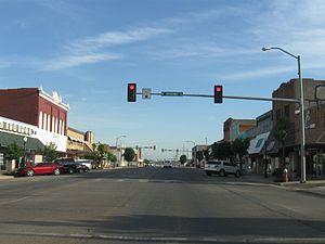 Oklahoma State Highway 6 - SH-6 in downtown Elk City