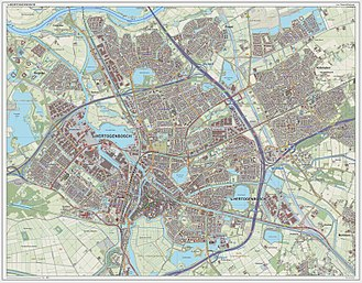 's-Hertogenbosch - Dutch Topographic map of 's-Hertogenbosch, as of March 2014
