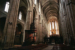 The Basilica of Mary Magdalene in Saint-Maximin-la-Sainte-Baume is a conservative 13th century Gothic church in Provence, France. Saint-Maximin-la-Sainte-Baume is a commune of southern France, in the département of Var.