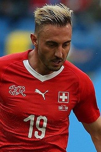 Josip Drmić - Drmić with Switzerland at the 2018 FIFA World Cup