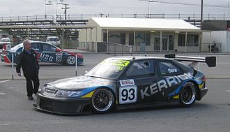 National Sports Sedan Series - 2010 Series winner James Sera (Saab 9-3) at Mallala Motor Sport Park. This car also won the series in 2006 driven by Dean Randle.