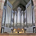 Saarbrücken, Stiftskirche Orgelprospekt.JPG
