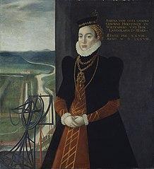 Portrait of Sabina von Württemberg (right half of double portrait)