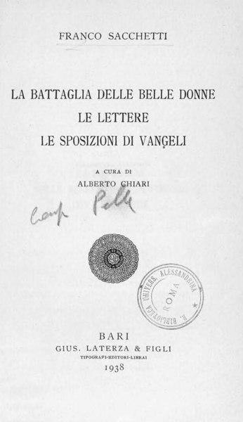 File:Sacchetti, Franco – La battaglia delle belle donne, 1938 – BEIC 1909374.djvu