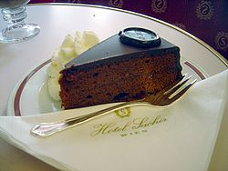 Sachertorte from Hotel Sacher, Vienna.