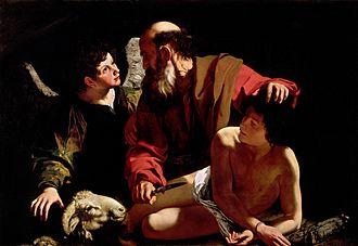 Sacrifice of Isaac (Caravaggio) - Image: Sacrifice of Isaac Caravaggio (c. 1603)