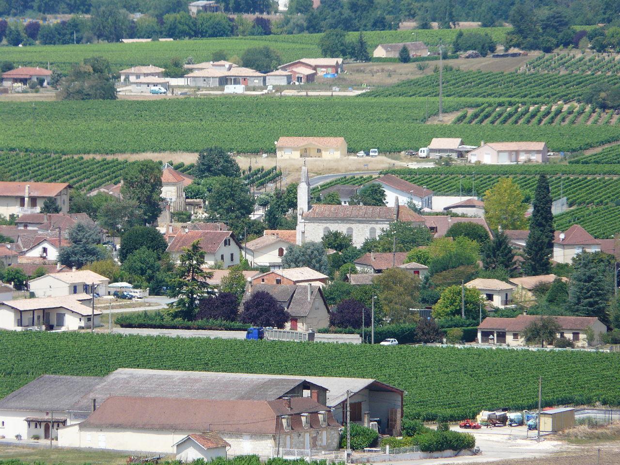 Le village de Saint-Laurent-des-Vignes.