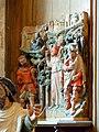 Saint-Prix (95), église Saint-Prix, bas-côté sud, fragment de retable - scènes de la légende de saint Prix (chapelle de la 3e travée).jpg