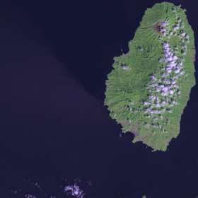 Vue satellite de Saint-Vincent.