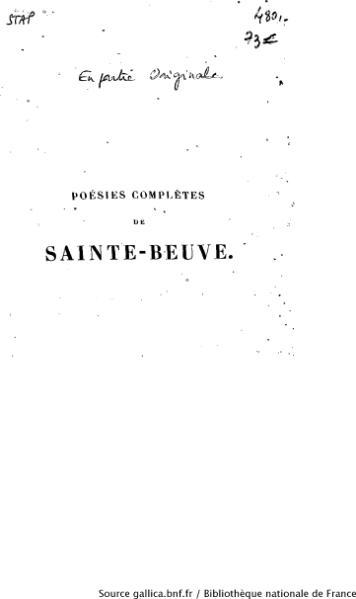 File:Sainte-Beuve - Poésies complètes.djvu