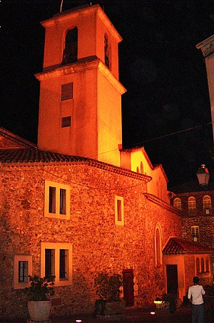 Sainte-Maxime - The church of Sainte-Maxime at night