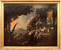 Salvator rosa, paesaggio con pastori, cavaliere e armenti presso una fontana, 01.jpg