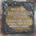 Salzburg - Lehen - Christian-Doppler-Straße 8 - Stolperstein Klara Oberweger.jpg