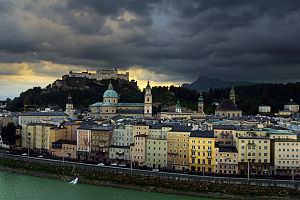 Salzburg (Austria), view of the old town