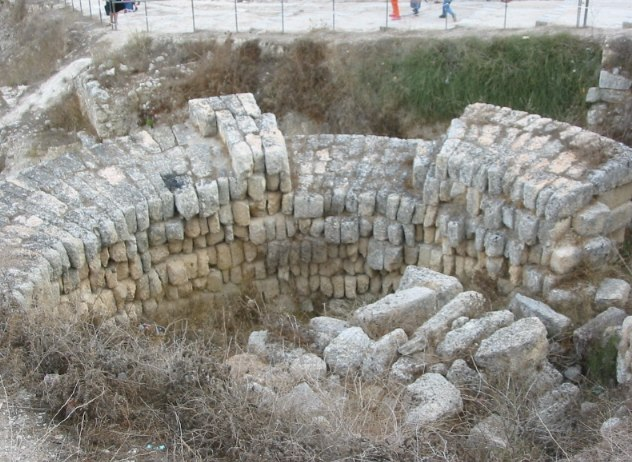 Ruines hellénistiques de la ville de Samarie, ancienne capitale du royaume d'Israël