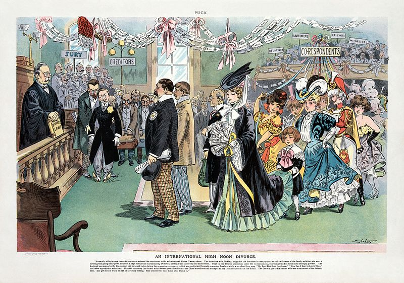cartoon from 1800 regarding divorce