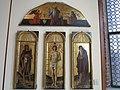 San Sebastiano tra i ss. Giovanni Battista e Antonio abate, nella lunetta il Padre Eterno e Annunciazione di Jacopo, Gentile e Giovanni Bellini (1).JPG
