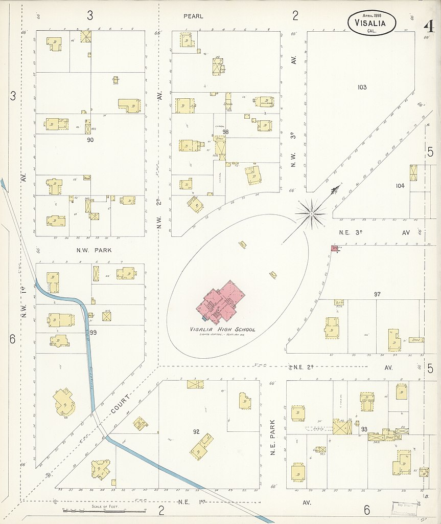 Map Of California Visalia.File Sanborn Fire Insurance Map From Visalia Tulare County