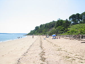 Sands Point, New York - The beach in Sands Point
