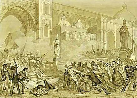 The revolution in Palermo (12 January 1848).