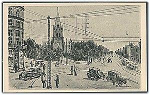 Sankt Hans Torv - The square on an old postcard