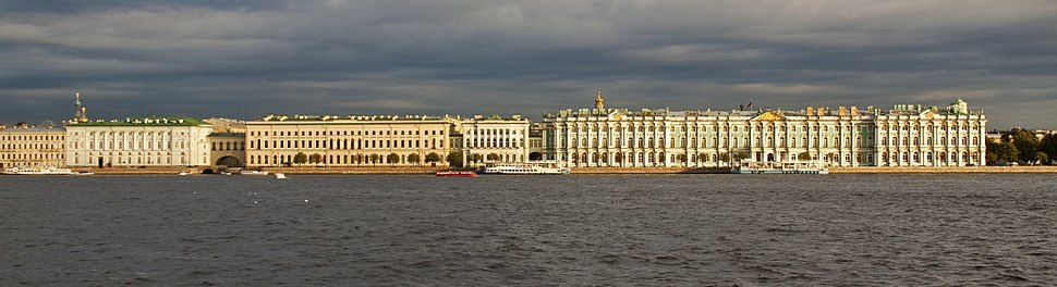 The State Hermitage Museum (building on the right)