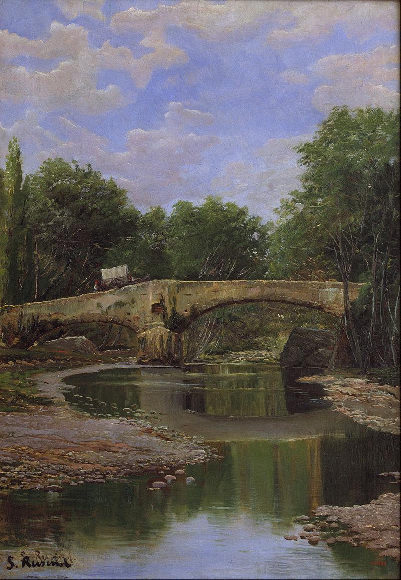 Santiago Rusiñol - Bridge over a River - Google Art Project.jpg
