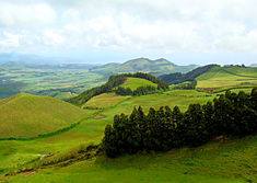 Rural landscape of western São Miguel island in the Azores