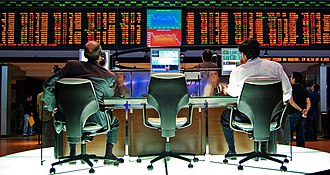 Trading panel of the Sao Paulo Stock Exchange is the second biggest in the Americas and 13th in the world. Sao Paulo Stock Exchange.jpg