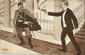 Eugen Schauman - A drawing of the assassination by an unknown author.