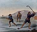 Schmidtmeyer- Scharf, George Johann - Mapuche playing chueca -JCB Library f1.1.jpg