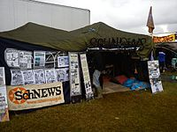 Schnews stall at Boomtown Festival.jpg