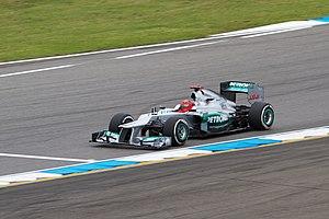 2012 German Grand Prix - Michael Schumacher qualified fourth