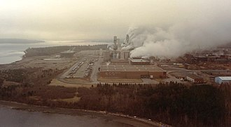 Pictou County - This Pictou County pulp mill is estimated to provide direct and indirect employment to more than 2000 people and more than $100 million in wages in Nova Scotia.