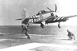 Hawker Sea Fury FB Mk.11 (VR943) 802.NAS, FAA , HMS Glory, Korea, 1951