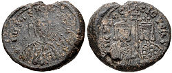 Seal of Peter I of Bulgaria with Irene Lekapene.jpg
