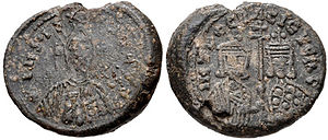 Peter I of Bulgaria - Seal of Emperor Peter I with Irene Lekapene